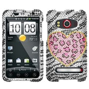 Insten® Diamante Protector Case For HTC EVO 4G, Playful Leopard
