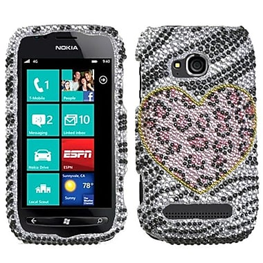 Insten® Diamante Protector Case For Nokia Lumia 710, Playful Leopard