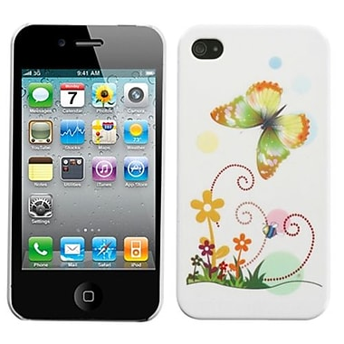 Insten® Phone Back Protector Cover F/iPhone 4/4S, Prismatic Butterfly
