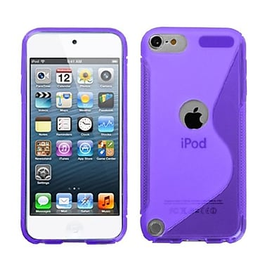 Insten® S-Shape Candy Skin Cover For iPod Touch 5th Gen, Purple