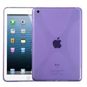 Insten® Candy Skin Cover For iPad Mini/iPad Mini 2, Light Purple X Shape