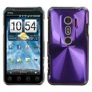 Insten® Back Protector Case For HTC EVO 3D/EVO V 4G, Purple Cosmo