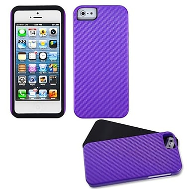 Insten® Crosshatch Fusion Protector Cover F/iPhone 5/5S, Purple