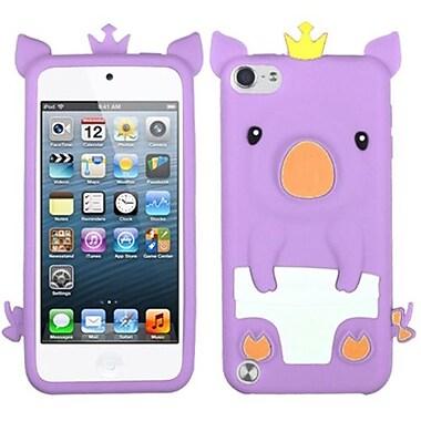 Insten® Pastel Skin Cover For iPod Touch 5th Gen, Purple Crown Piggie