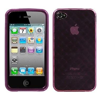 Insten® Argyle Candy Skin Cover F/iPhone 4/4S, Purple Diamond
