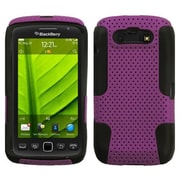 Insten® Astronoot Phone Protector Cover For BlackBerry 9850/9860, Purple/Black