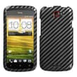 Insten® Protector Case For HTC-One S, Racing Fiber 2D Silver