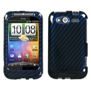 Insten® Protector Case For HTC WildFire S GSM/WildFire S CDMA, Blue/2D Silver Racing Fiber