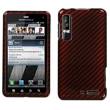 Insten® Protector Cover For Motorola XT862 Droid 3, Racing Fiber/Red/2D Silver