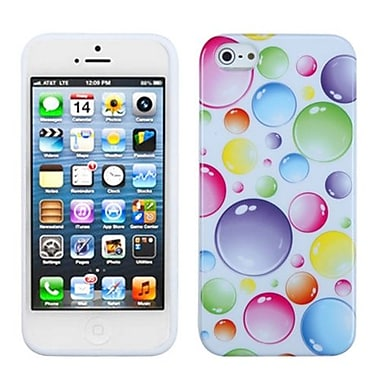 Insten® Argyle Candy Skin Cover F/iPhone 5/5S, Rainbow Bigger Bubbles