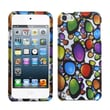 Insten® Phone Protector Case For iPod Touch 5th Gen, Rainbow Gemstones 2D Silver