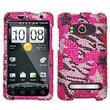 Insten® Diamante Protector Case For HTC EVO 4G, Rebel Stars