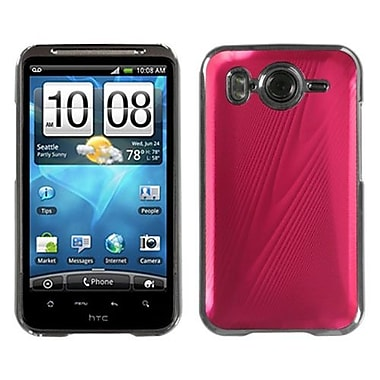 Insten® Back Faceplate Case For HTC Inspire 4G, Red Brushed Metal Cosmo