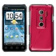 Insten® Back Protector Case For HTC EVO 3D/EVO V 4G, Red Cosmo