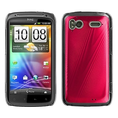 Insten® Back Protector Case For HTC Sensation 4G, Red Cosmo