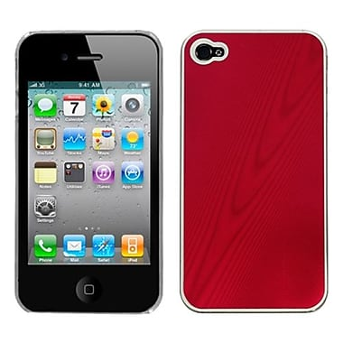Insten® Cosmo Back Protector Cover F/iPhone 4/4S, Red