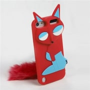 Insten® 3D Silicone Fox Skin Cover For iPod Touch 5th Gen, Red