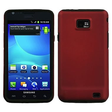 Insten® Rubberized Fusion Faceplate Case For Samsung I777 Galaxy S2 AT&T, Red