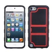 Insten® Gummy Armor Stand For iPod Touch 5th Gen, Red