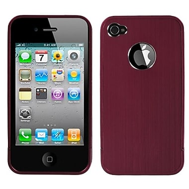 Insten® Chrome Coating Metal Shield Protector Cover F/iPhone 4/4S, Red Ironside