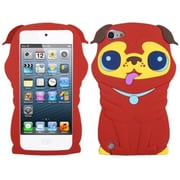 Insten® Pekinese Pastel Skin Cover For iPod Touch 5th Gen, Red