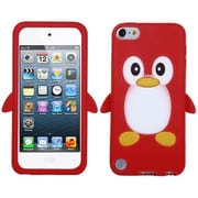 Insten® Silicone Skin Gel Cover For iPod Touch 5th Gen, Red