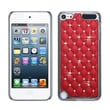 Insten® Alloy Diamond Luxurious Lattice Phone Protector Cover For iPod Touch 5th Gen, Red