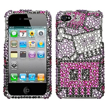 Insten® Diamante Protector Cover F/iPhone 4/4S, Robot