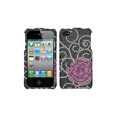 Insten® Diamante Protector Cover F/iPhone 4/4S, Rosey
