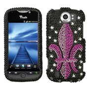 Insten® Protector Case For HTC myTouch 4G Slide, Royal Seal Diamond Crystal Bling
