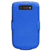 Insten® Rubberized Hybrid Holster For BlackBerry 9800/9810 4G, Blue