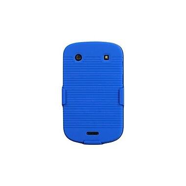 Insten® Rubberized Hybrid Holster For BlackBerry 9930/9900, Blue