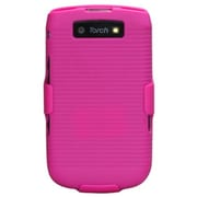 Insten® Rubberized Hybrid Holster For BlackBerry 9800/9810 4G, Hot-Pink