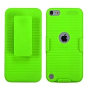 Insten® Rubberized Hybrid Holster For iPod Touch 5th Gen, Green