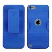 Insten® Rubberized Hybrid Holster For iPod Touch 5th Gen, Baby Blue