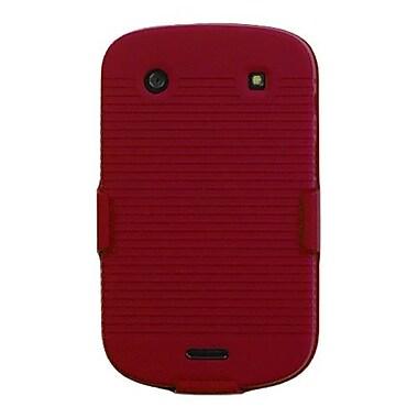 Insten® Rubberized Hybrid Holster For BlackBerry 9930/9900, Red