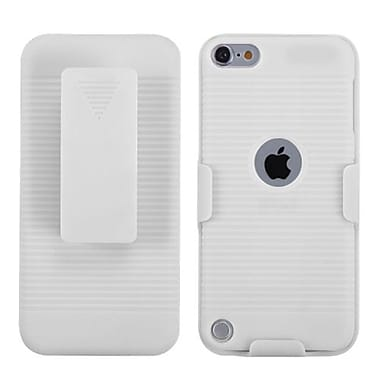 Insten® Rubberized Hybrid Holster For iPod Touch 5th Gen, Solid Ivory White