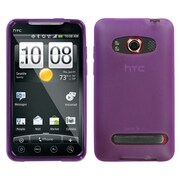 Insten® Argyle Candy Skin Cover For HTC EVO 4G, Semi Transparent Purple