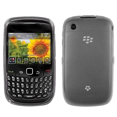 Insten® Candy Skin Cover For RIM BlackBerry 8520/8530, Semi Transparent Smoke