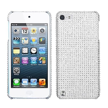 Insten® Diamante Back Protector Cover For iPod Touch 5th Gen, Silver