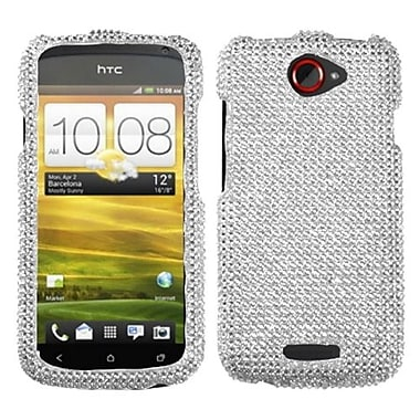 Insten® Diamante Protector Case For HTC-One S, Silver