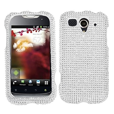 Insten® Diamante Protector Cover For Huawei U8680 myTouch, Silver