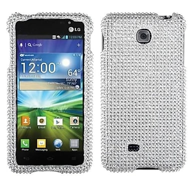 Insten® Diamante Protector Cover For LG P870, Silver