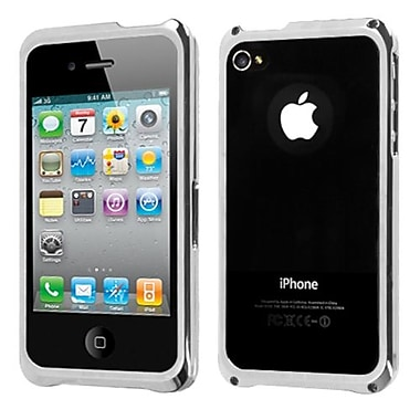 Insten® Chrome Coating Metal Surround Shield Protector Cover F/iPhone 4/4S, Silver