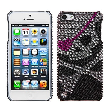Insten® Skull Diamante Protector Cover For iPod Touch 5th Gen, Back
