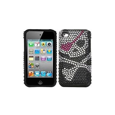 Insten® Fusion Faceplate Case For iPod Touch 4th Gen, Skull Diamante