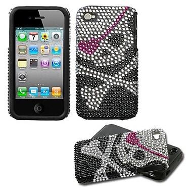 Insten® Diamante Fusion Protector Cover F/iPhone 4/4S, Skull