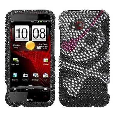 Insten® Diamante Protector Cover For HTC ADR6410 Incredible 4G LTE, Skull