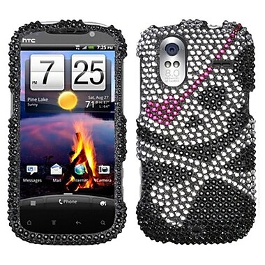 Insten® Diamante Faceplate Case For HTC Amaze 4G, Skull