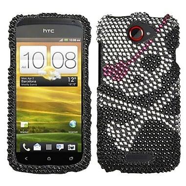 Insten® Diamante Protector Case For HTC-One S, Skull